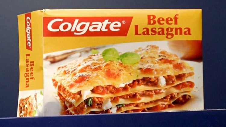 Colgate Beef Lasagna  Colgate beef lasagna frozen TV dinner from the 80s pics