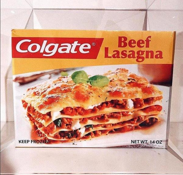 Colgate Beef Lasagna  Colgate Lasagna and other bonkers products probably best
