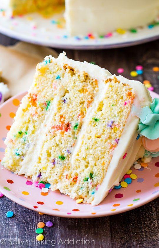 Confetti Cake Recipe  Funfetti Layer Cake Sallys Baking Addiction