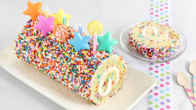 Confetti Cake Recipe  Confetti Cake Roll Recipe BettyCrocker