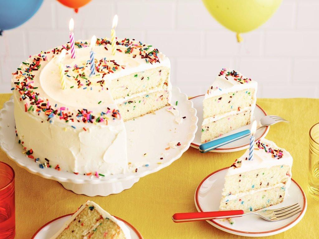 Confetti Cake Recipe  Fluffy Confetti Birthday Cake
