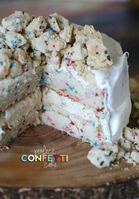 Confetti Cake Recipe  Perfect Homemade Confetti Cake Cookies and Cups