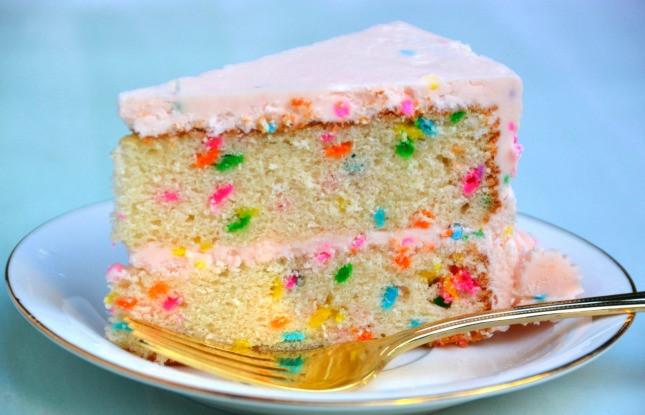 Confetti Cake Recipe  DOUBLE LAYER CONFETTI CAKE RECIPE