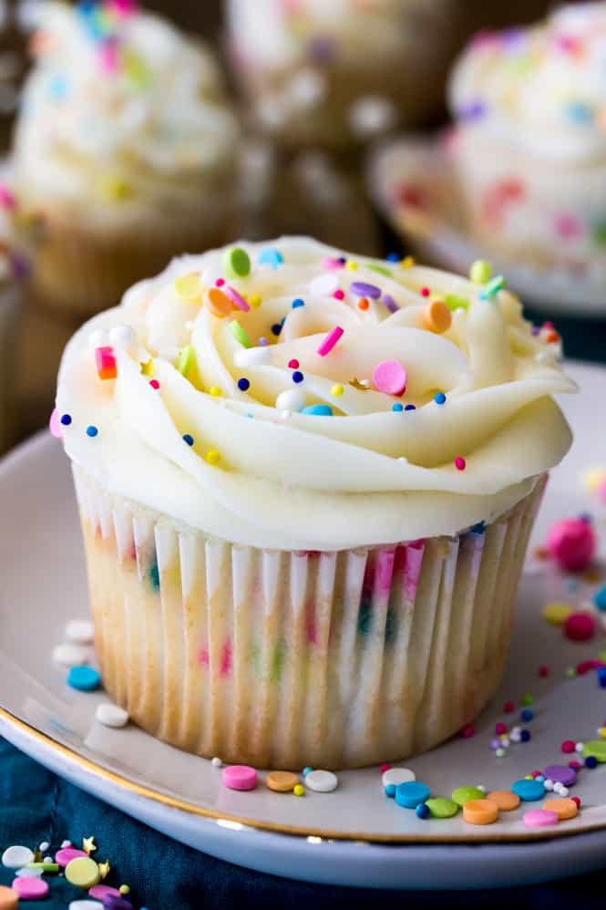 Confetti Cake Recipe  Confetti Cupcakes Sugar Spun Run