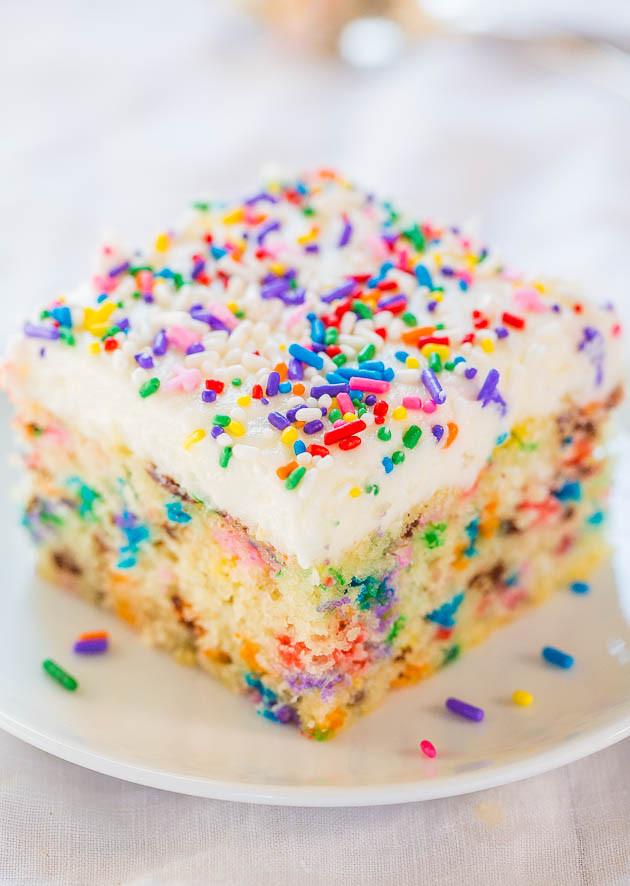 Confetti Cake Recipe  Funfetti Cake with Funfetti Frosting Confetti Cake