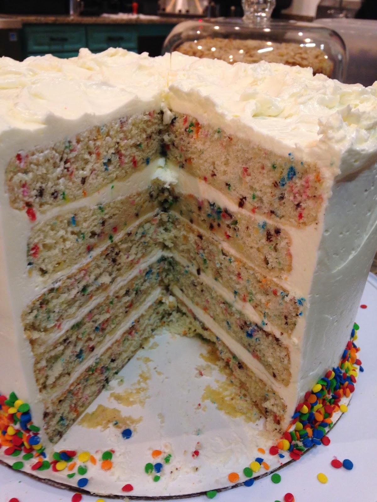 Confetti Cake Recipe  My story in recipes Confetti Cake