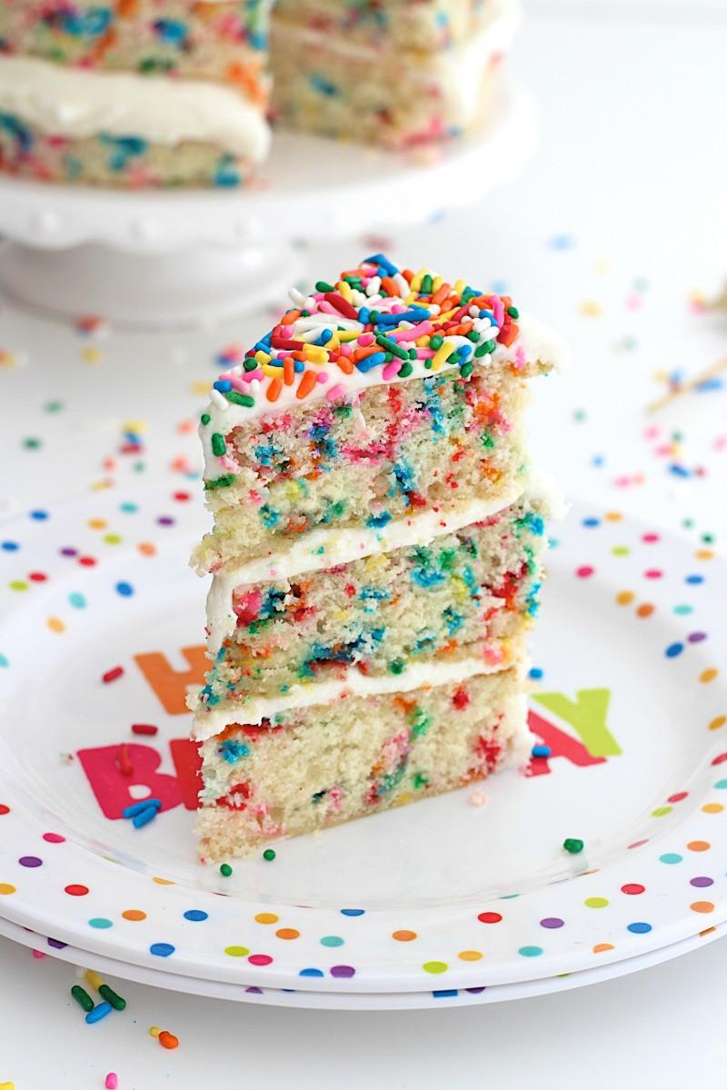 Confetti Cake Recipe  Naked Confetti Cake