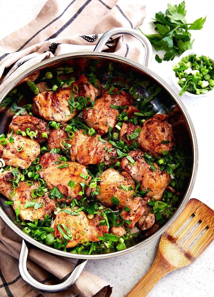 Cook Boneless Chicken Thighs  Boneless Chicken Thigh Recipe i FOOD Blogger