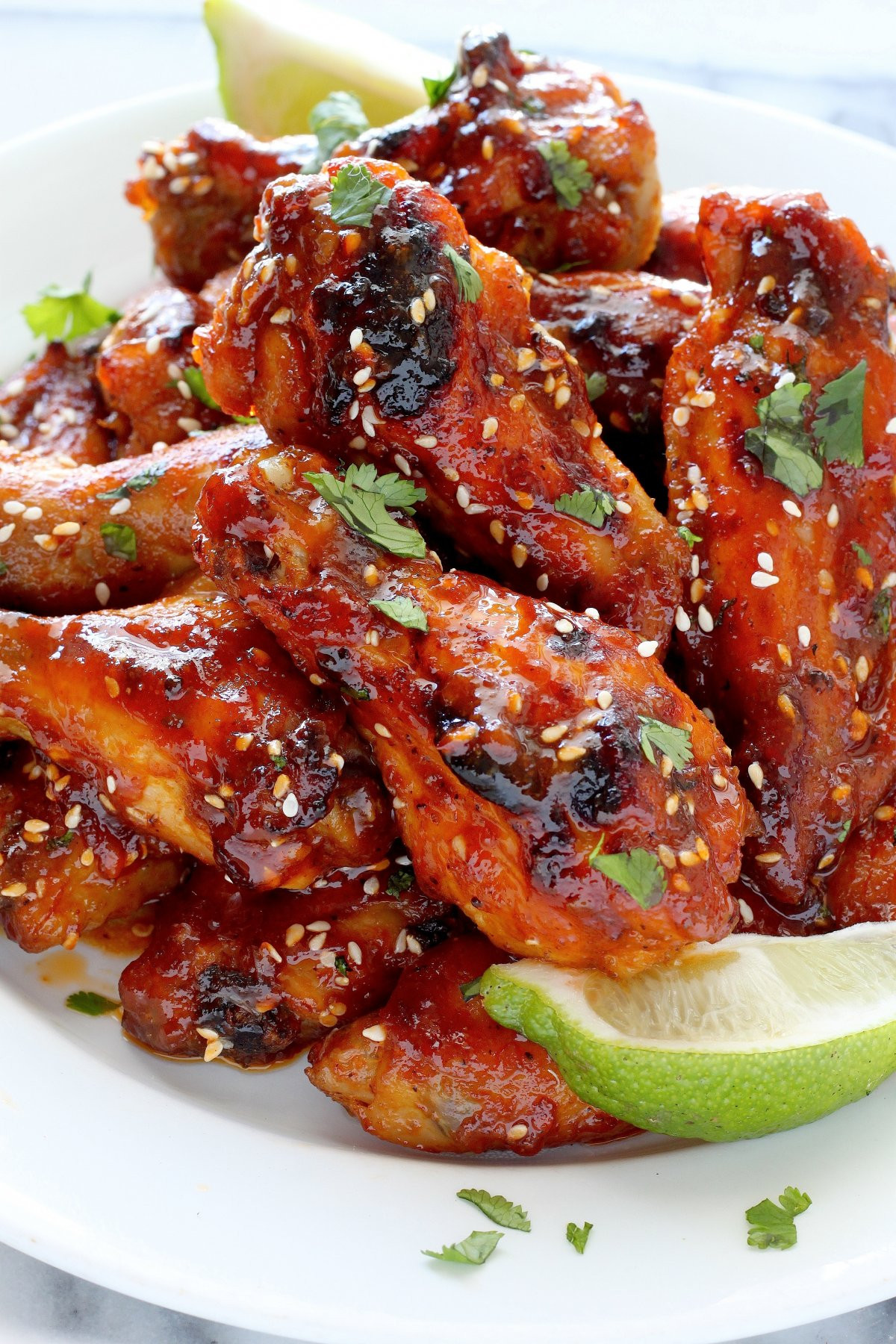Cook Chicken Wings  Sweet and Spicy Sriracha Baked Chicken Wings Baker by Nature