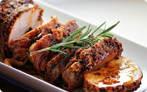 Cook Pork Loin  Roast Pork Loin with Bacon and Brown Sugar Glaze