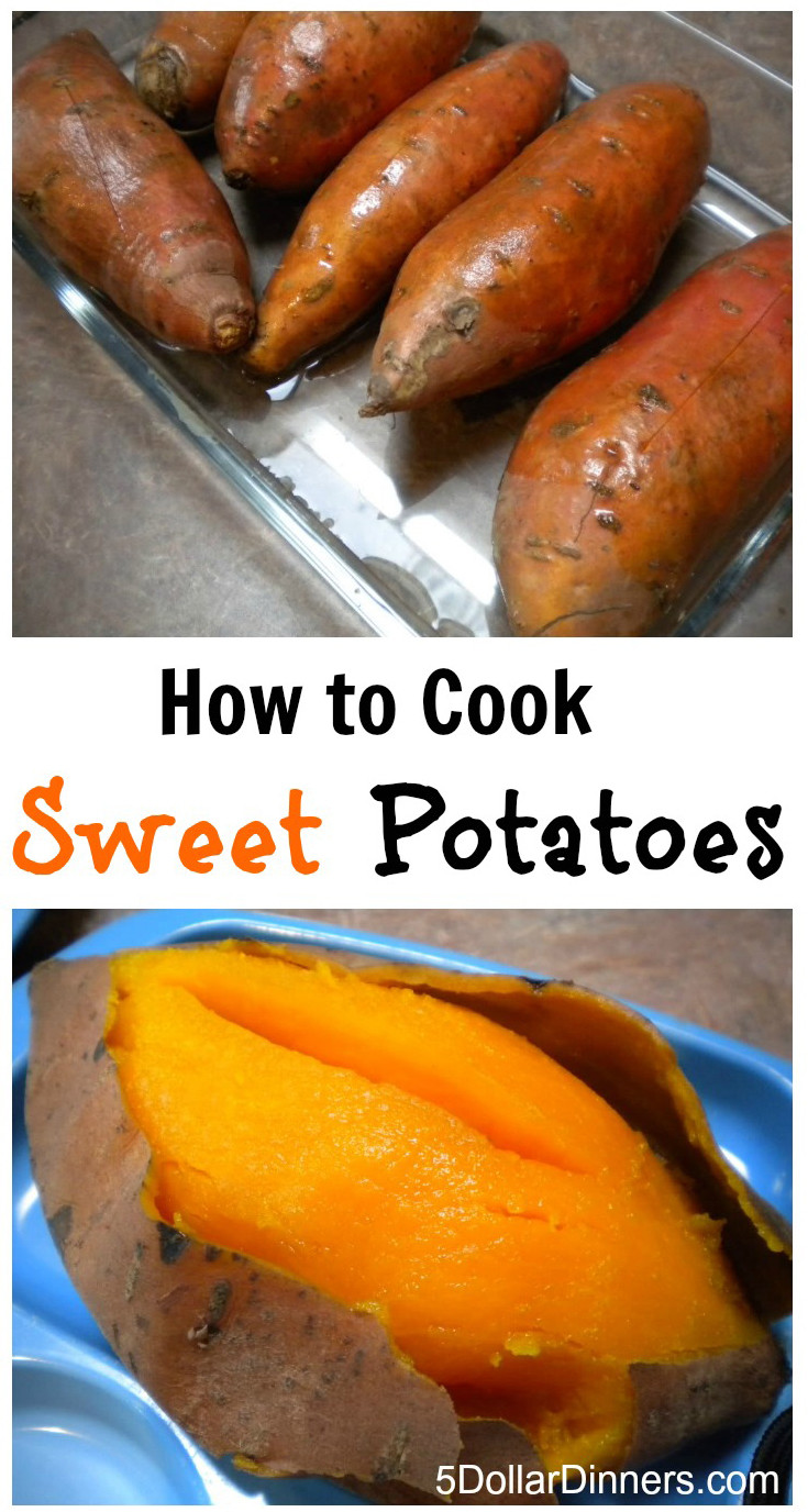 Cook Sweet Potato In Microwave  how to cook a sweet potato