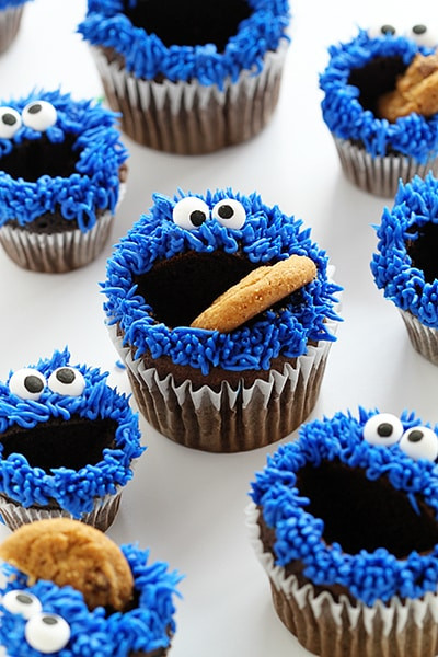 Cookie Monster Cupcakes  cookie monster cupcakes i am baker