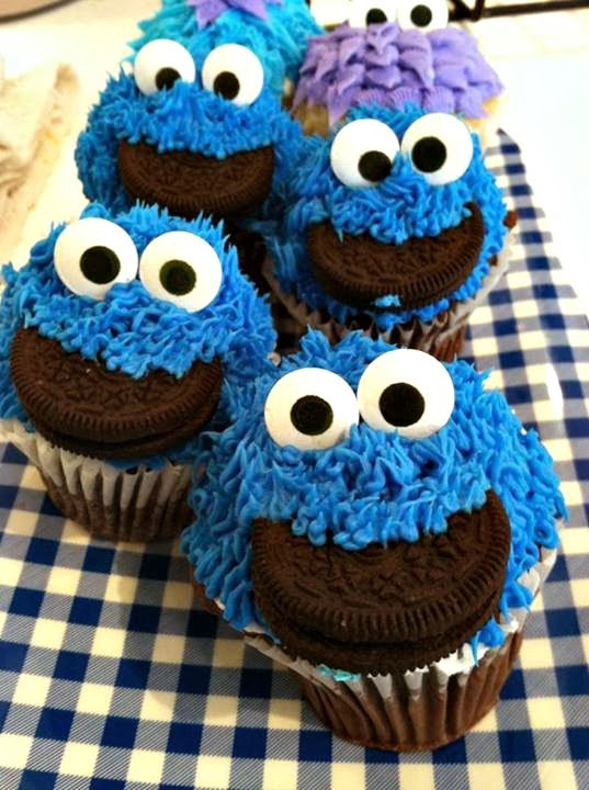 Cookie Monster Cupcakes  DIY Cookie Monster Cupcake Idea For Kids Crafty Morning