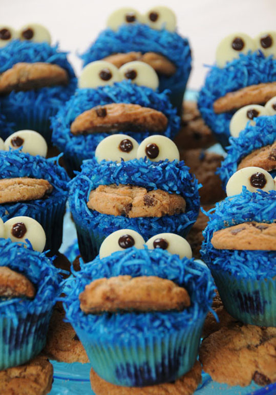 Cookie Monster Cupcakes  301 Moved Permanently