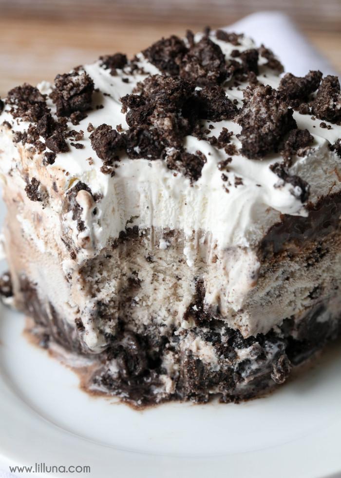 Cookies And Cream Ice Cream Recipe  Oreo Ice Cream Cake Recipe