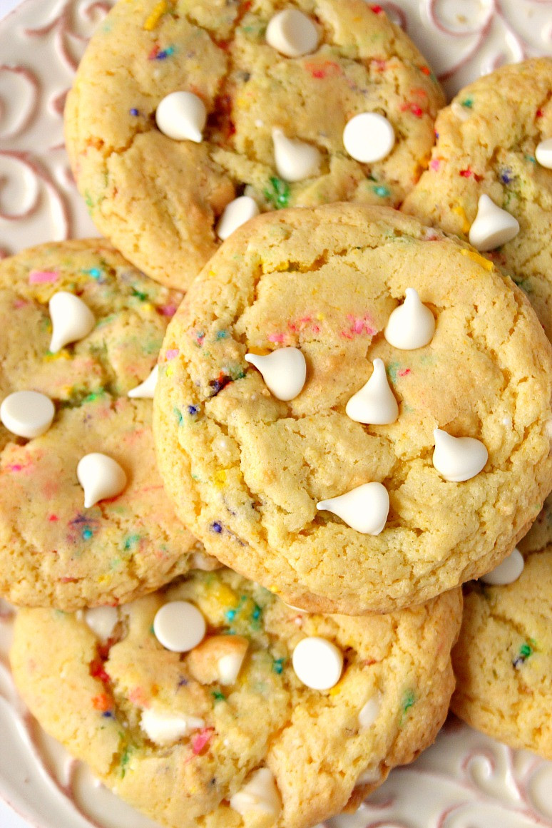 Cookies Made With Cake Mix  Birthday Cake Mix Cookies Recipe Crunchy Creamy Sweet