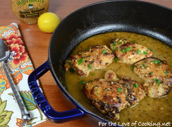 Cooking Boneless Chicken Thighs  Lemon and Mustard Chicken Thighs