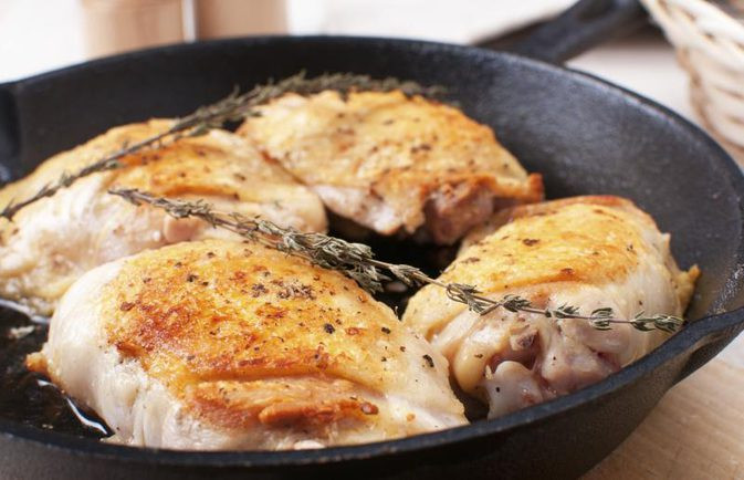 Cooking Boneless Chicken Thighs  How to Pan Sauté Boneless Skinless Chicken Thighs