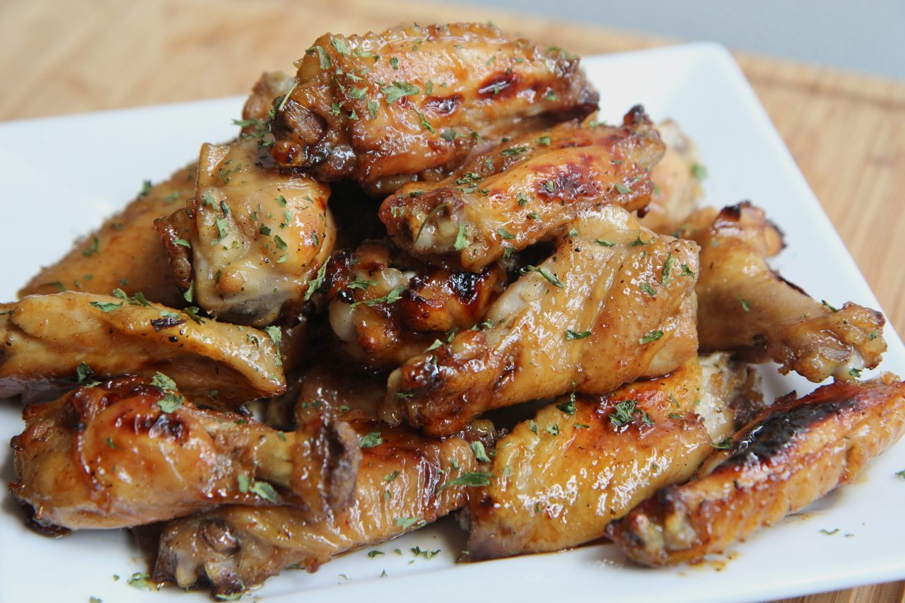 Cooking Chicken Wings  Tangy Baked Chicken Wings Recipe Crowd Pleaser