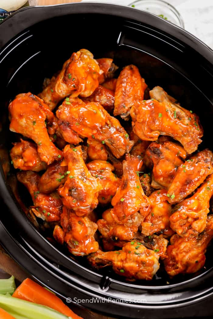 Cooking Chicken Wings  Crock Pot Chicken Wings Spend With Pennies