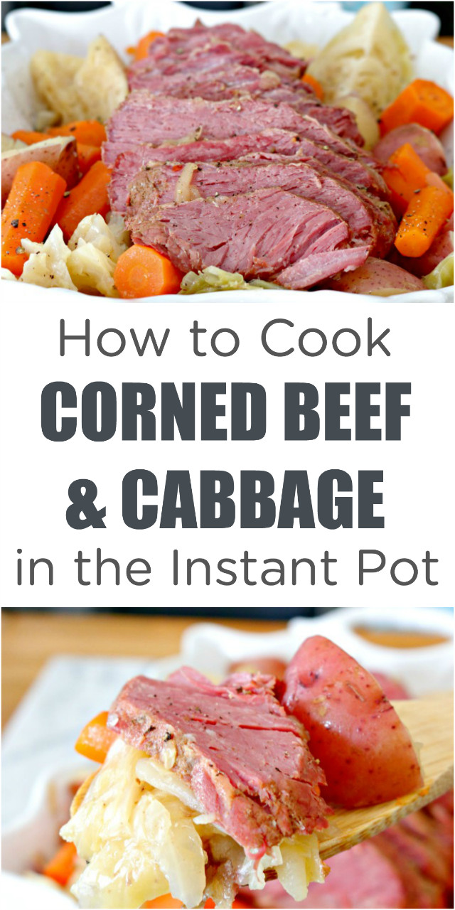 Cooking Corned Beef And Cabbage  How to Cook Instant Pot Corned Beef and Cabbage Mom 4 Real