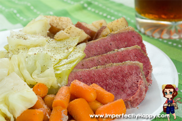 Cooking Corned Beef And Cabbage  Slow Cooker Corned Beef and Cabbage Imperfectly Happy