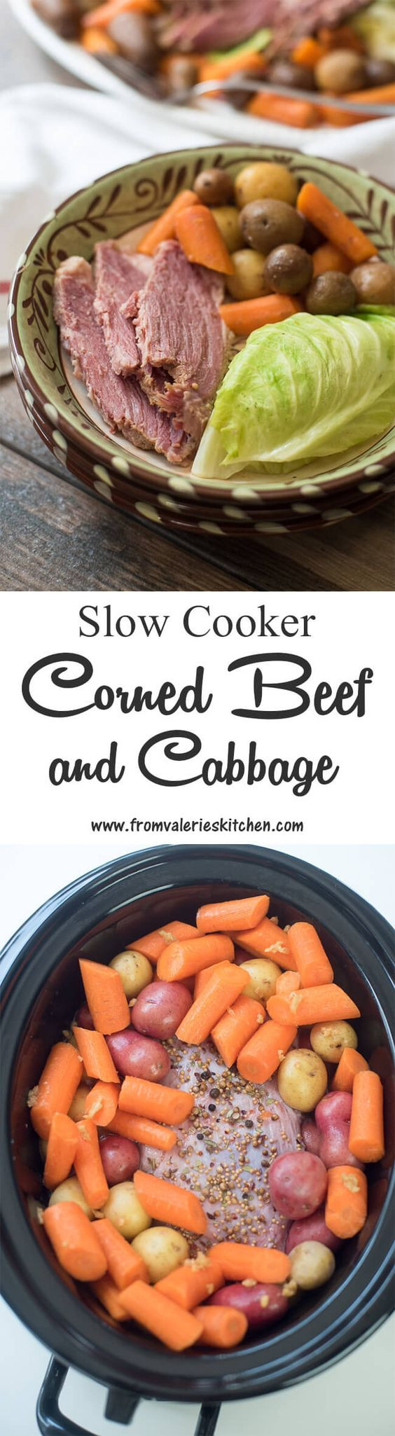 Cooking Corned Beef And Cabbage  Slow Cooker Corned Beef and Cabbage Recipe