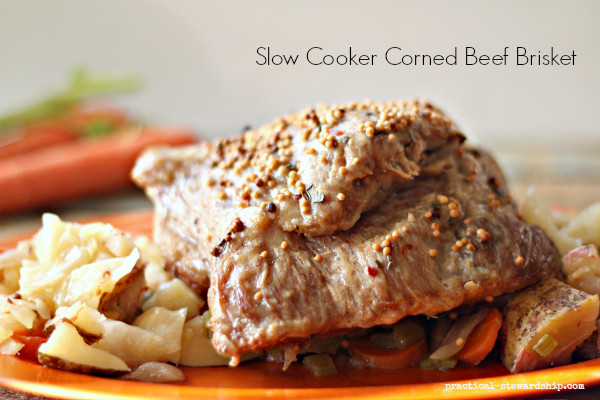 Cooking Corned Beef Brisket  Crock pot Corned Beef Brisket Practical Stewardship