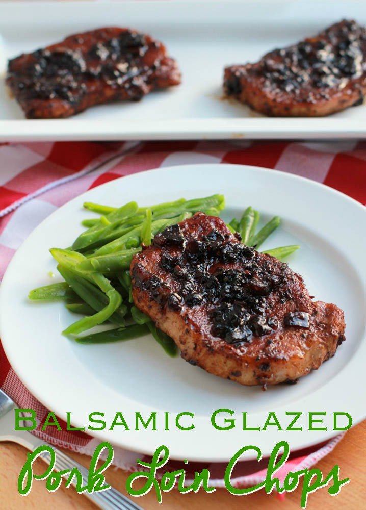 Cooking Pork Loin Chops  Balsamic Glazed Pork Loin Chops