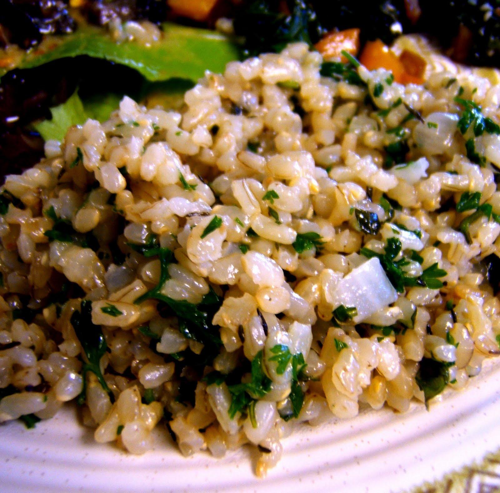Cooking Short Grain Brown Rice  Julia s Vegan Kitchen Herbed Short Grain Brown Rice