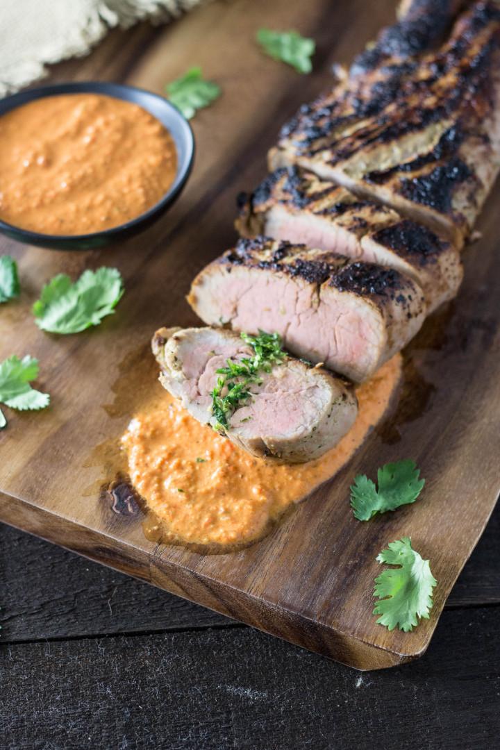 Cooking Time For Pork Loin  Marinated Pork Tenderloin with Romesco Sauce & Cilantro