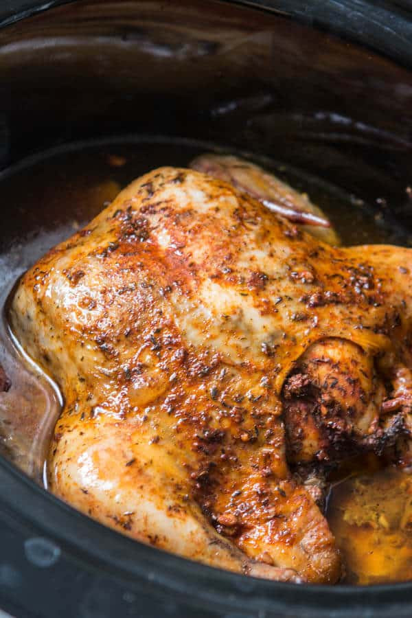 Cooking Whole Chicken In Crock Pot  Tender Slow Cooker Whole Chicken Oh Sweet Basil