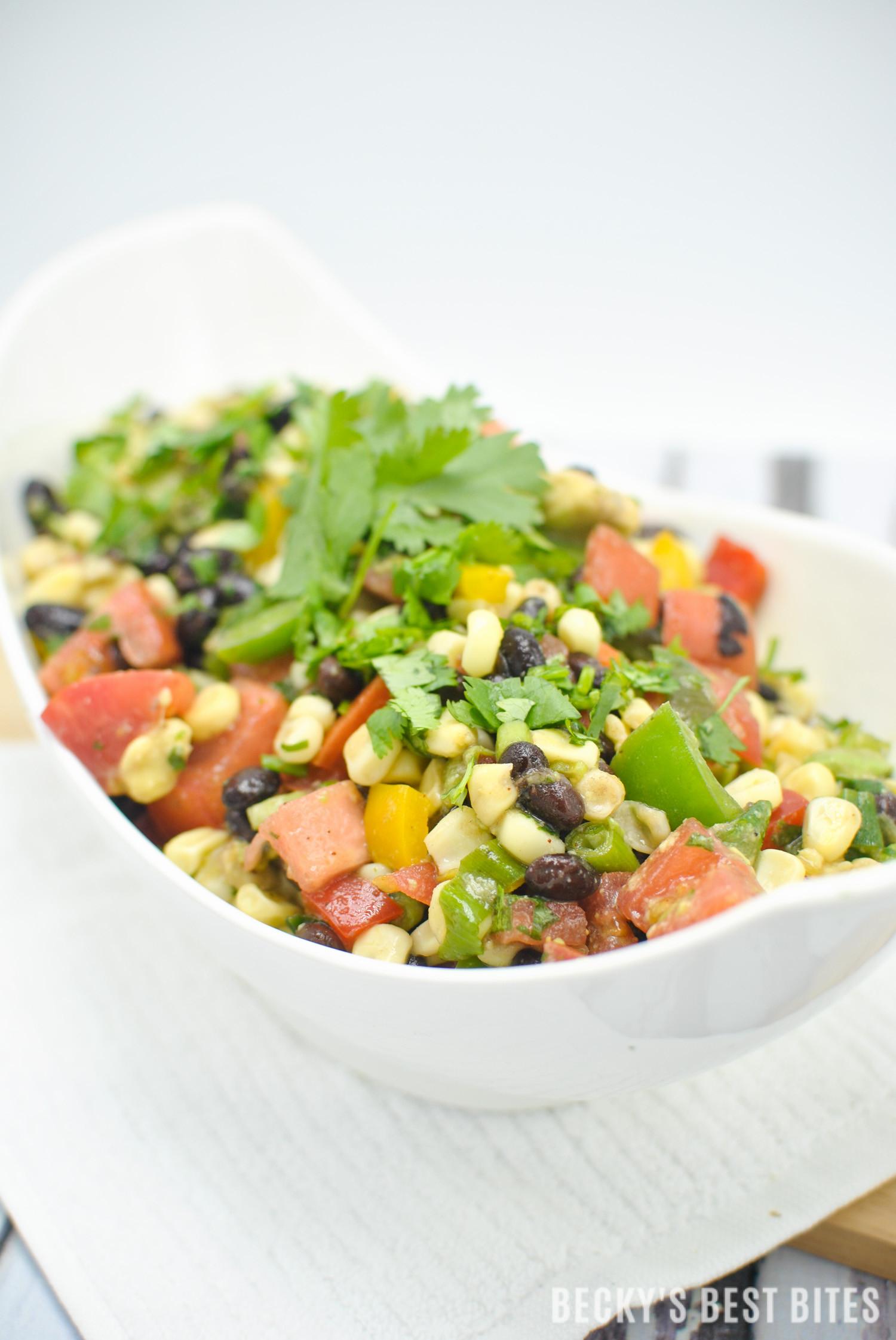 Corn And Black Bean Salad  Southwest Black Bean and Corn Salad Salsa