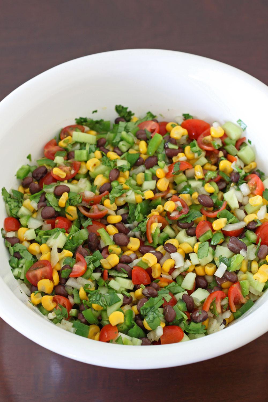 Corn And Black Bean Salad  Black Bean and Corn Salsa Salad Recipe Runner