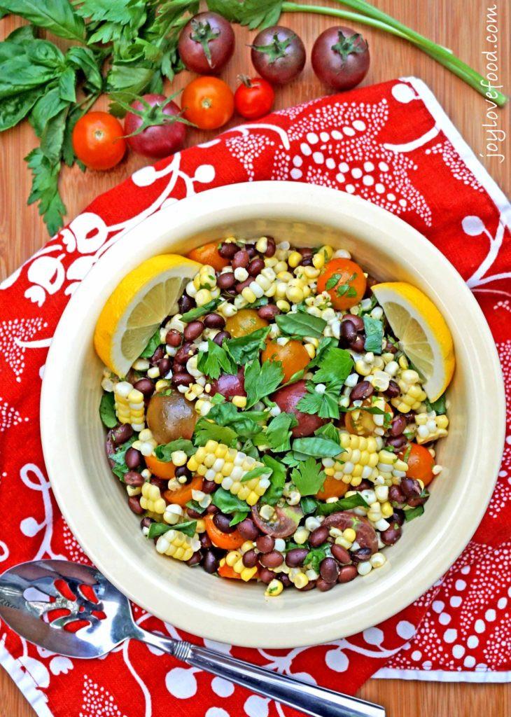 Corn And Black Bean Salad  Tomato Corn and Black Bean Salad Joy Love Food