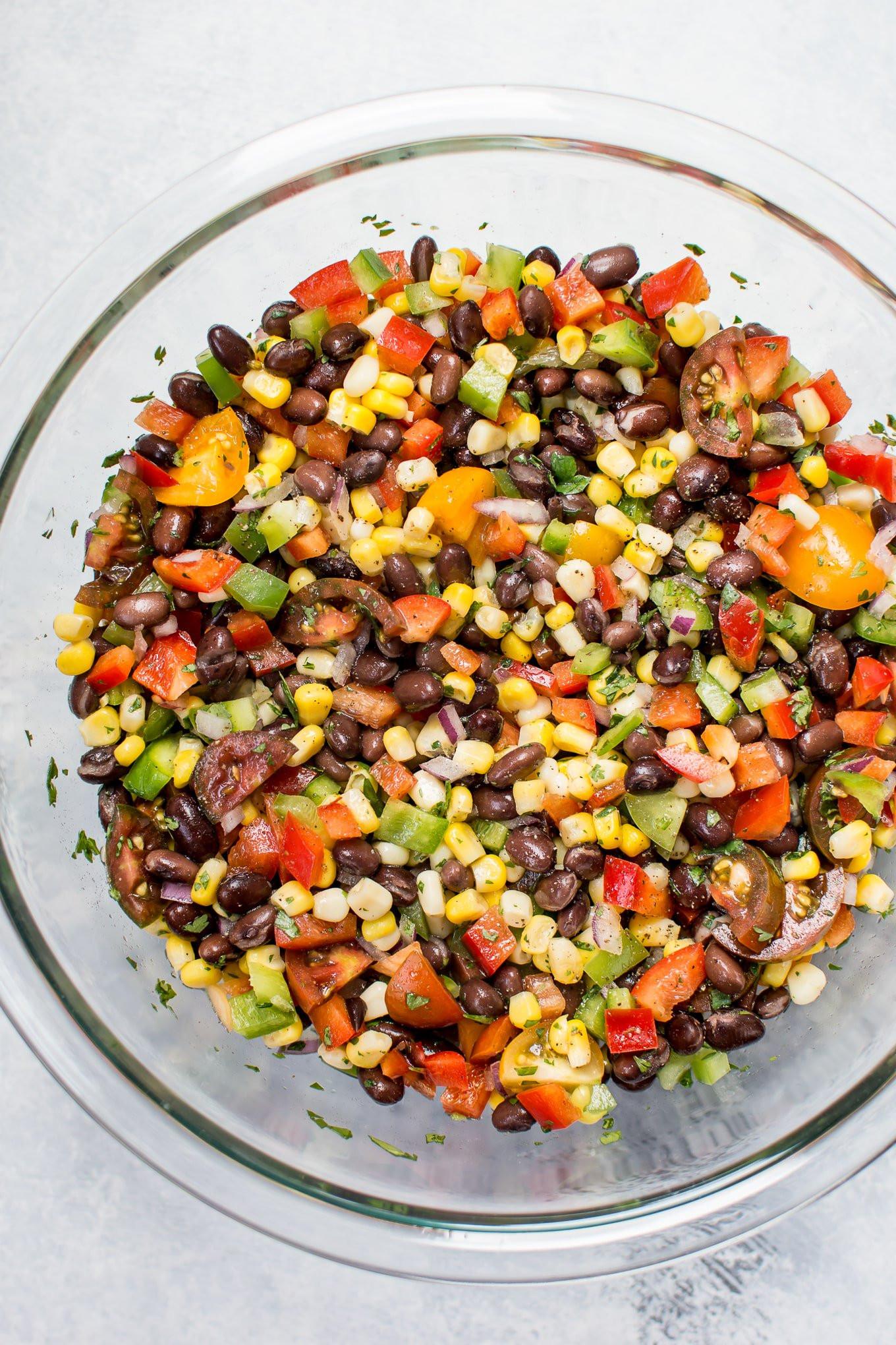 Corn And Black Bean Salad  Corn and Black Bean Salad • Salt & Lavender