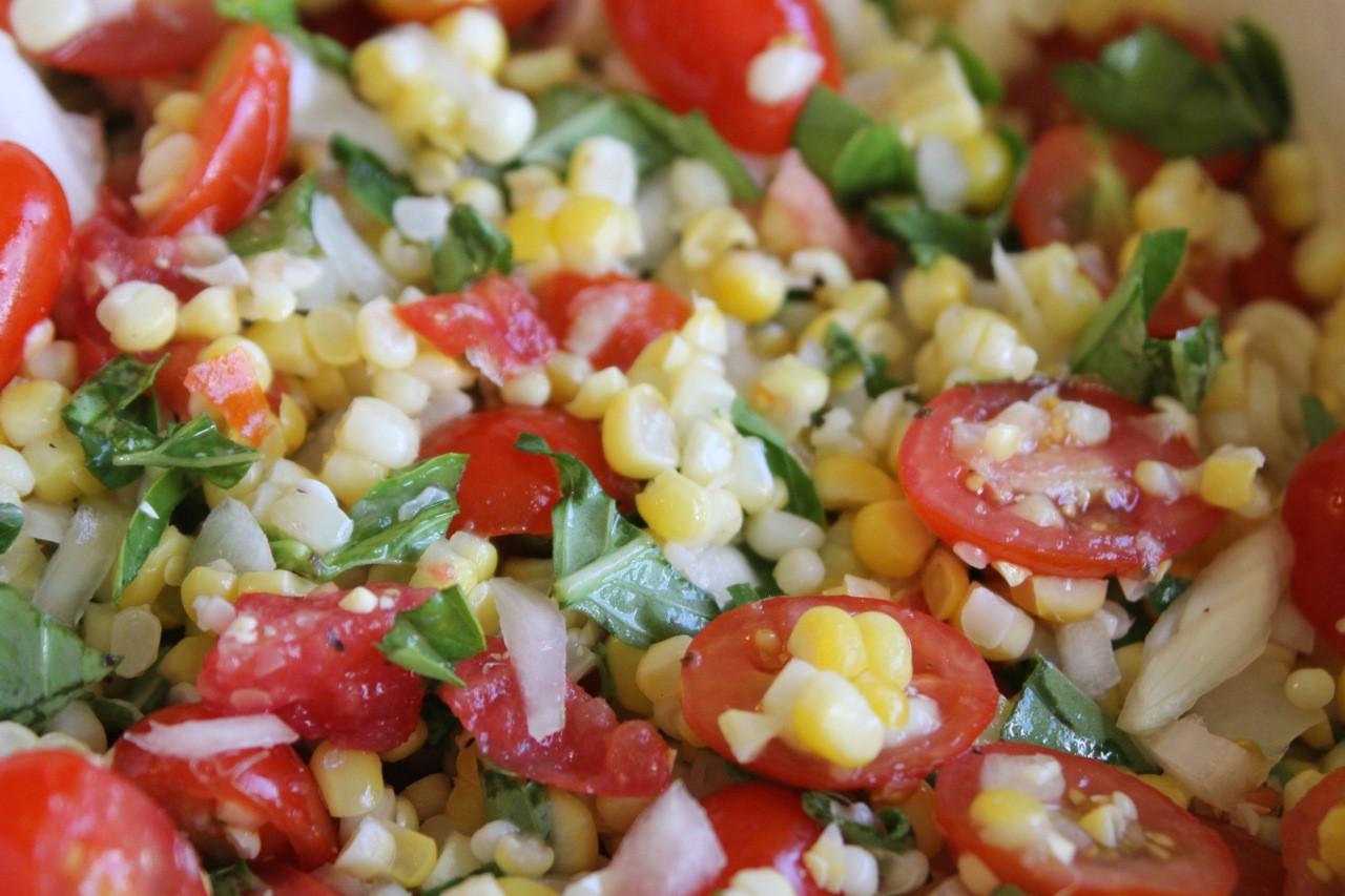 Corn And Tomato Salad  Fresh Corn And Tomato Salad Recipe — Dishmaps