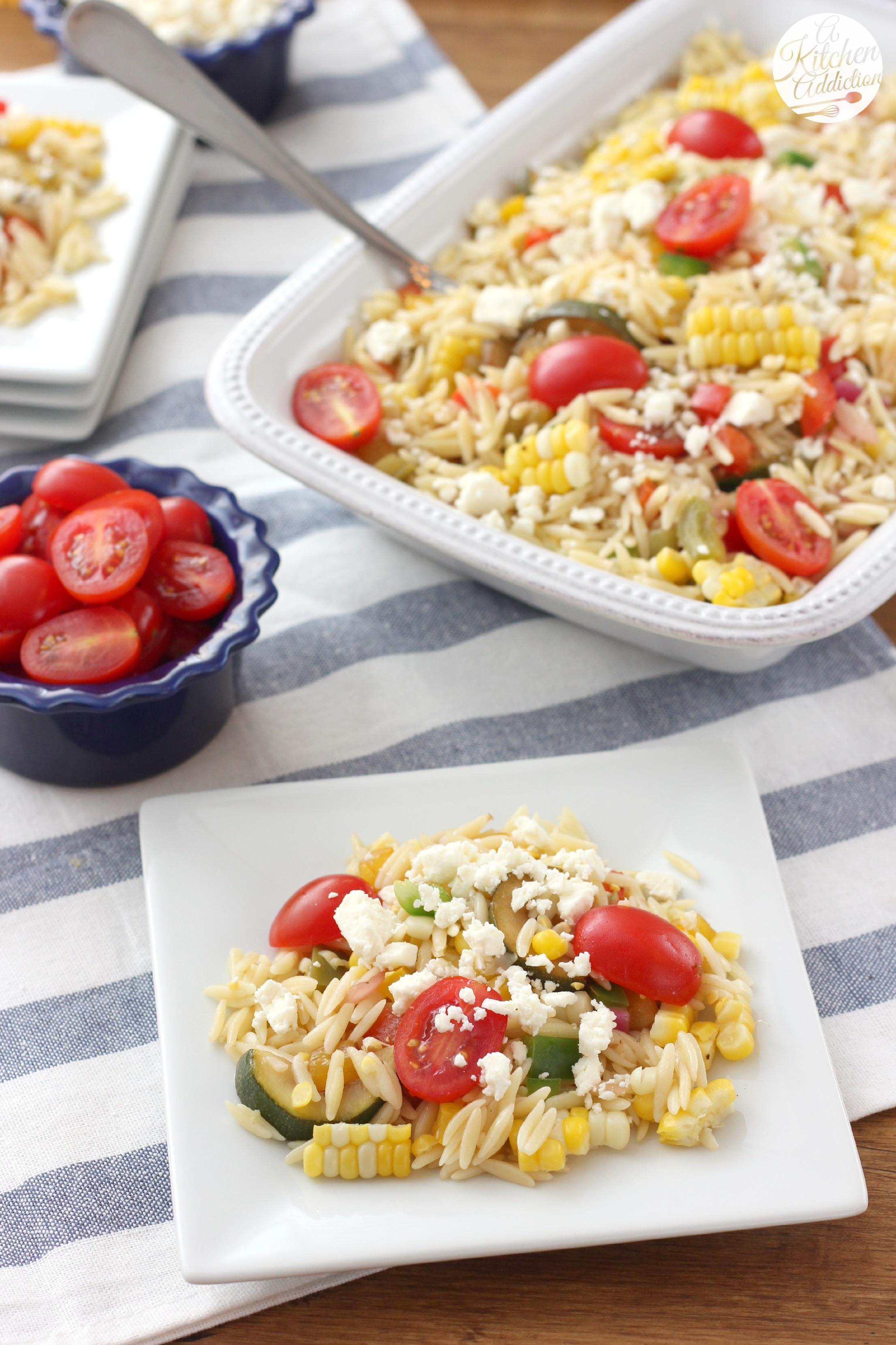 Corn And Tomato Salad  Fresh Corn and Tomato Orzo Salad A Kitchen Addiction