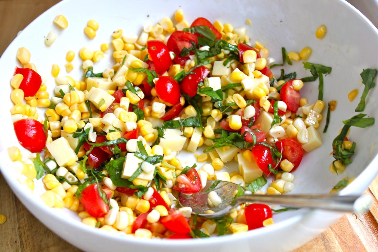 Corn And Tomato Salad  Herbed Sweet Corn And Tomato Salad Recipe — Dishmaps