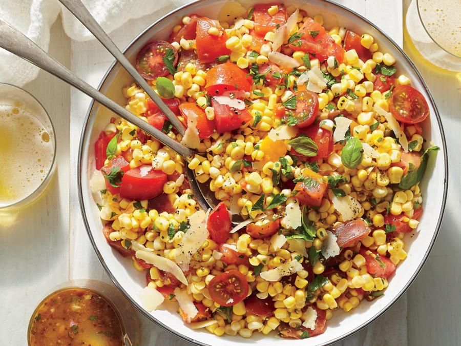Corn And Tomato Salad  Corn Tomato and Basil Salad Recipe Cooking Light