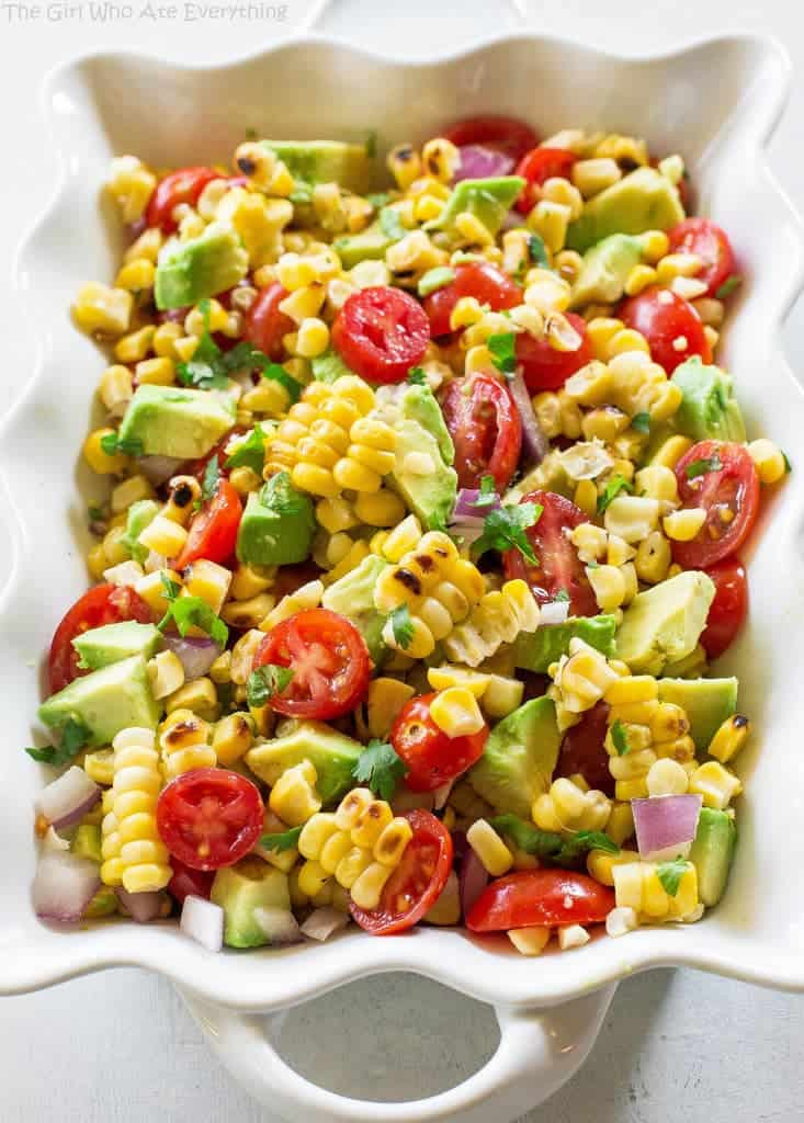 Corn And Tomato Salad  Corn Avocado and Tomato Salad