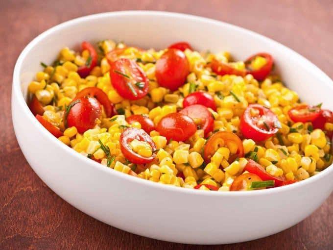 Corn And Tomato Salad  Sweet Corn and Tomato Salad Recipe