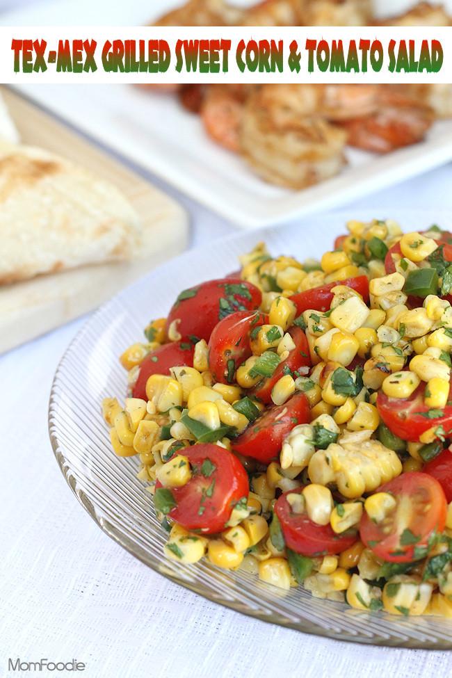 Corn And Tomato Salad  Tex Mex Grilled Sweet Corn & Tomato Salad Recipe Mom Foo