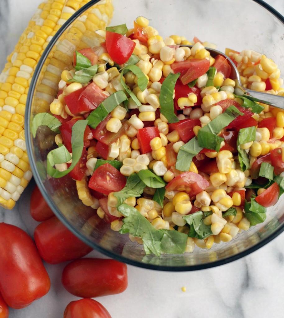 Corn And Tomato Salad  Corn and Tomato salad with Balsamic Glaze