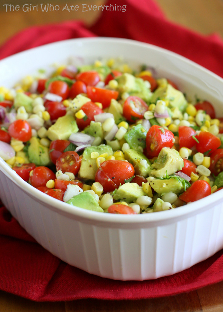 Corn And Tomato Salad  Veggie Salads That Please Your Appetite I Can Serve e