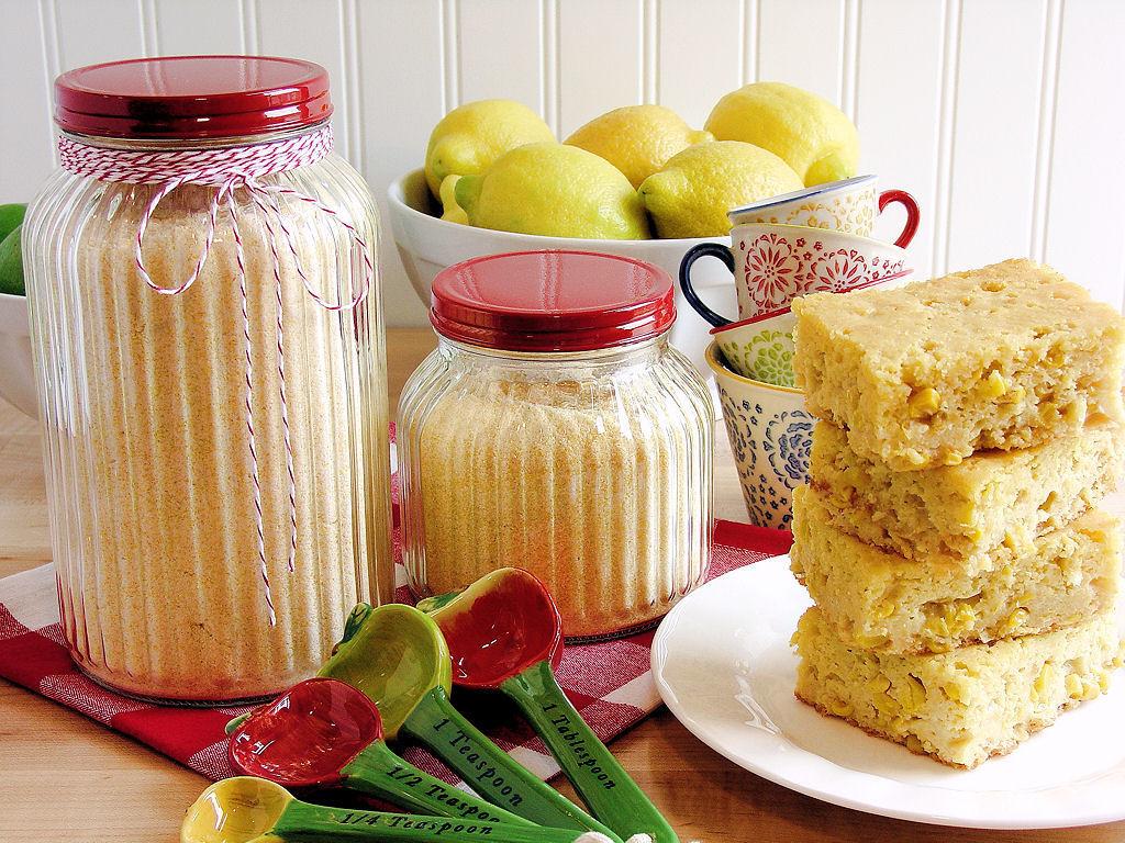 Corn Bread Mix  Homemade Cornbread Mix gluten free option Wicked Good
