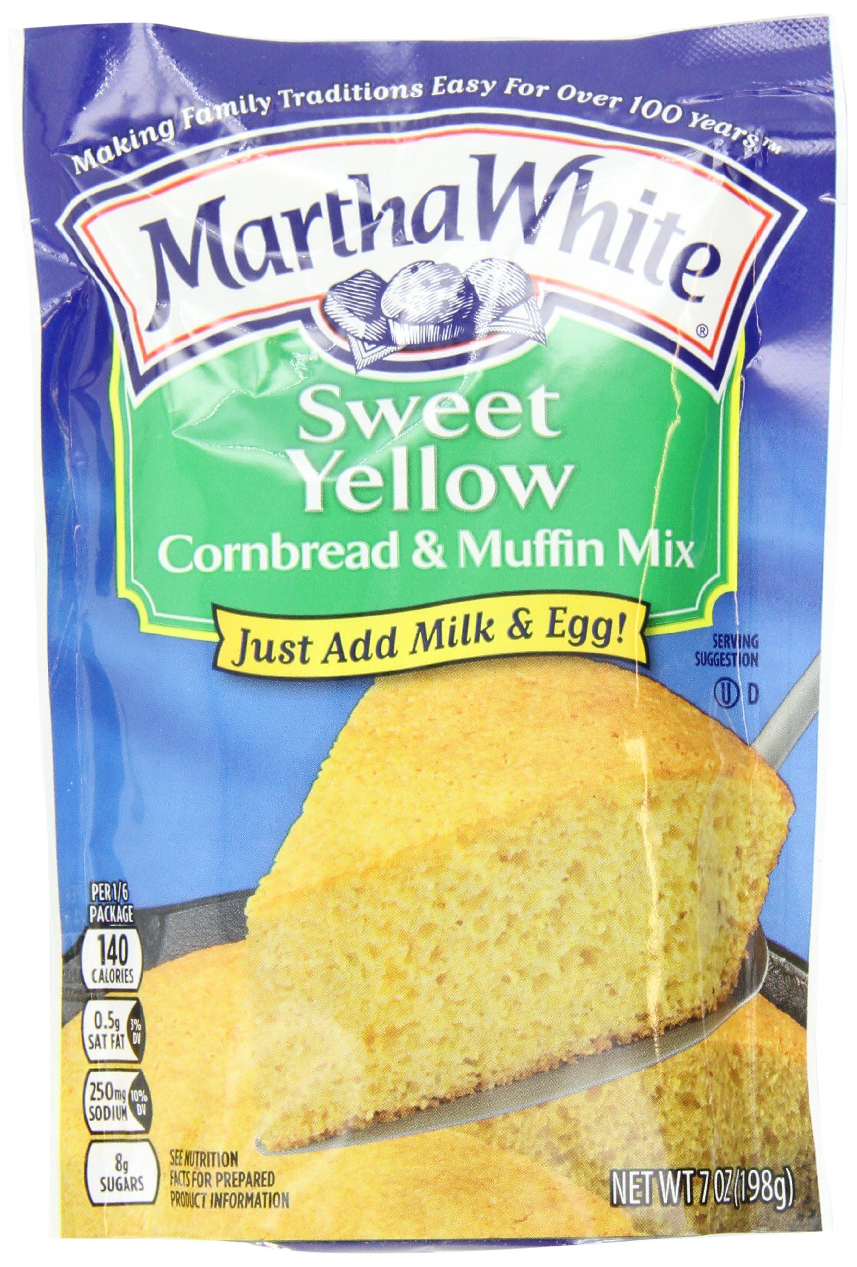 Corn Bread Mix  Amazon Martha White Yellow Cornbread and Muffin Mix