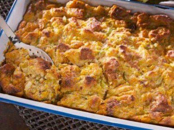 Corn Bread Pudding  Creamed Corn Bread Pudding Recipe