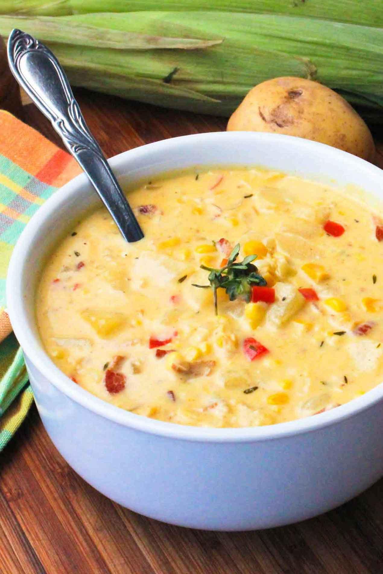 Corn Chowder Soup Recipe  Farm Fresh Corn Chowder How To Feed A Loon