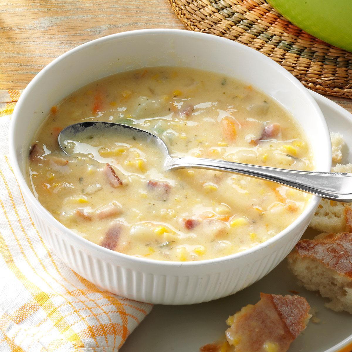 Corn Chowder Soup Recipe  Corn Chowder with Potatoes Recipe
